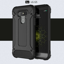 Case For LG G5 Diamond Armor Shockproof TPU PC Case For LG G5 Hybird Hard Durable Rubber Sleeve Back Cover vissko for lg g5 phone case pc hard shell protective back cover
