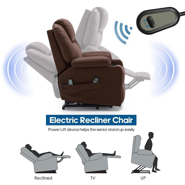 Leather Massage Chair w/ Power Lift  3
