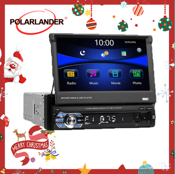 Retractable 1 din Car Radio Support Android 8.1 only 7 inch FM Bluetooth HD Touch Screen USB SD AUX-in Mirror Link mp4mp5 player carrvas 2 din car multimedia player android 8 1 built in rds 7 inch hd touch screen gps navigation wifi bluetooth am fm iso