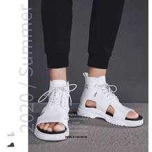 Men Sandals Gladiators Casual Roman Shoes black white Outside Breathable Mens Sa