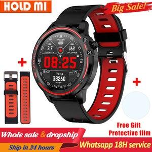 Image 1 - L8 ساعة ذكية الرجال ساعة IP68 مقاوم للماء SmartWatch ECG ضغط الدم معدل ضربات القلب الرياضة اللياقة البدنية pk L5 L9 ساعة ذكية