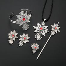 Jewelry-Sets Habesha Ethiopian Bangle Earring-Ring Pendant Necklace Hairpin Trendy White