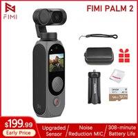Fimi Palm 2-estabilizador de cámara de mano, 3 ejes, Sensor actualizado, reducción de ruido, micrófono, gran angular de 128 °