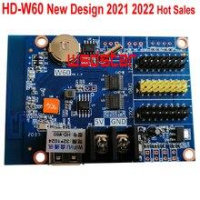 HD W60 1 * HUB08 2 * HUB12 1024*32 USB + tarjeta de control de pantalla LED WIFI sistema de control LED de un solo Color y doble Color HD W60 10 unids/lote