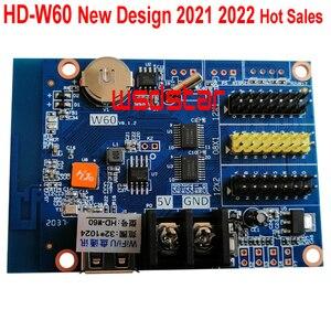 Image 1 - HD W60 1 * HUB08 2 * HUB12 1024*32 usb + 無線lan ledディスプレイコントロールカードシングル & デュアルカラーled制御システムhd W60 10ピース/ロット