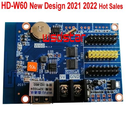 HD W60 1 * HUB08 2 * HUB12 1024*32 usb + 無線lan ledディスプレイコントロールカードシングル & デュアルカラーled制御システムhd W60 10ピース/ロット