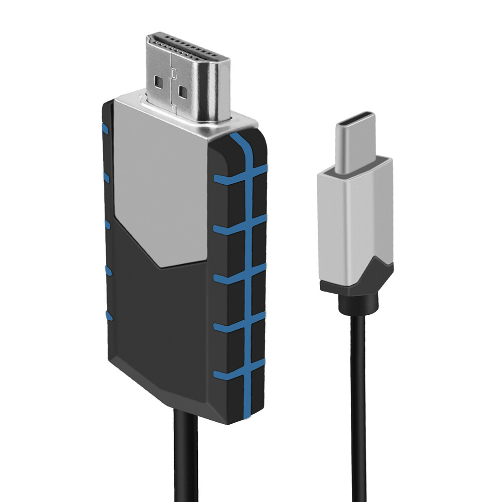 <font><b>2.2</b></font> M 7.2ft USB-C Type-C To <font><b>HDMI</b></font> <font><b>4K</b></font> 30Hz HDTV Adapter <font><b>Cable</b></font> For Huawei Samsung S10 S9 Note 9 Macbook image
