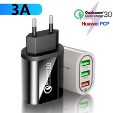 USB QC3.0 Charger Quick charge 3.0 Turbo Multi USB Charger QC 4.0 Fast Charging Mobile Phone Charger for Samsung Xiaomi 9 Huawei