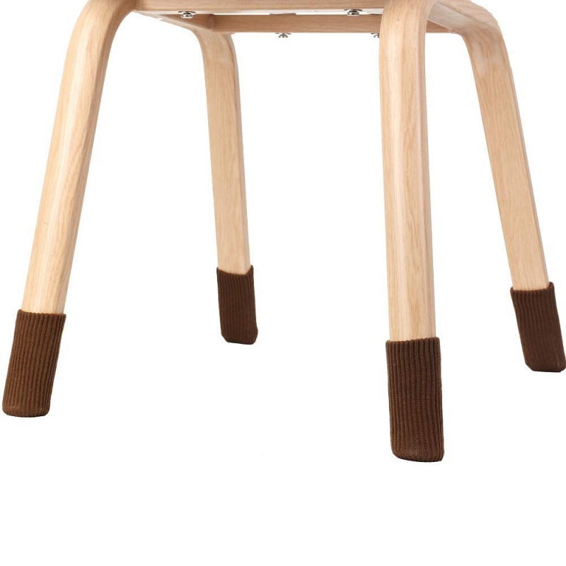 4pcs Chair Socks Table Foot Cover Floor Protectors Furniture Leg Socks Knit
