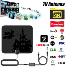 4K цифровой HDTV Антенна Внутренняя антенна 1180 км Диапазон с HD 1080P DVB-T2 и бесплатными каналами для местных Каналы вещания