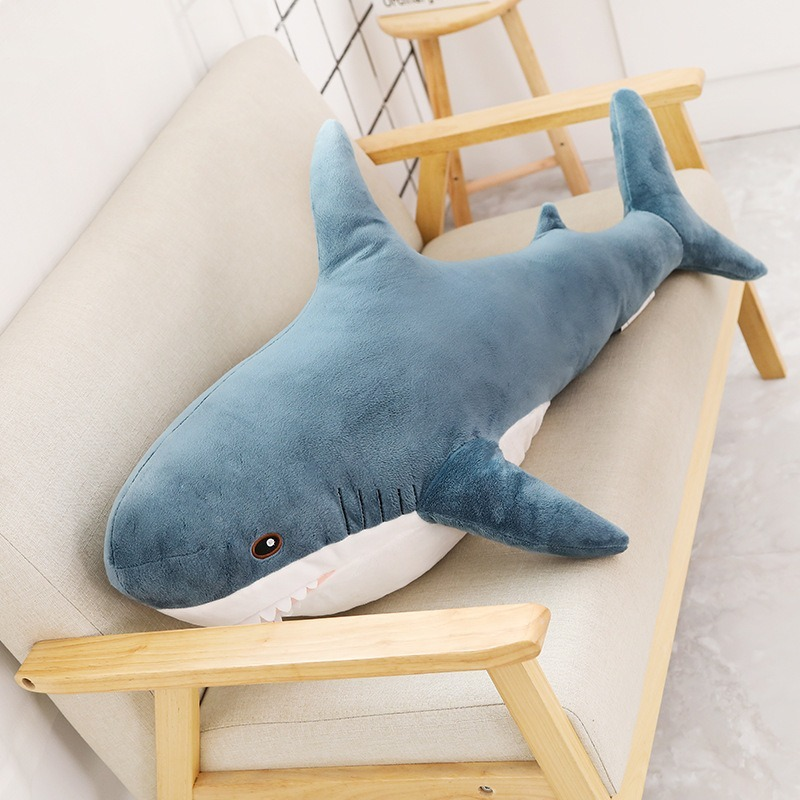 15/45/60/80cm Big Soft Shark Plush Stuffed Toys Sleeping Pillow Animal Plush Toys For Children Birthday Gift Home Decoration
