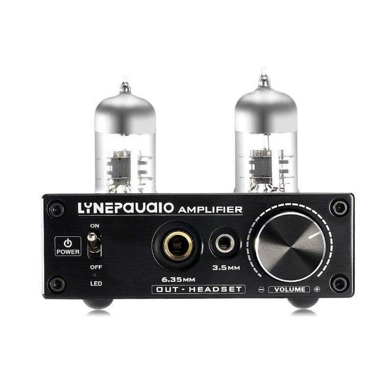 Mini Valve Tube Headphone Amplifier Low Ground Noise HIFI Integrated Stereo Amplifier Audio Pre-Amp for PC Speaker earphone