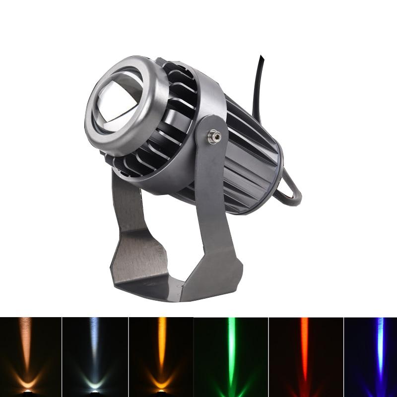 Outdoor LED Spotlight Waterproof Wall Lamp Narrow Beam Angle LED Floodlight 3W 10W 110-240V 12V Long Distance Wall Washer Lamp