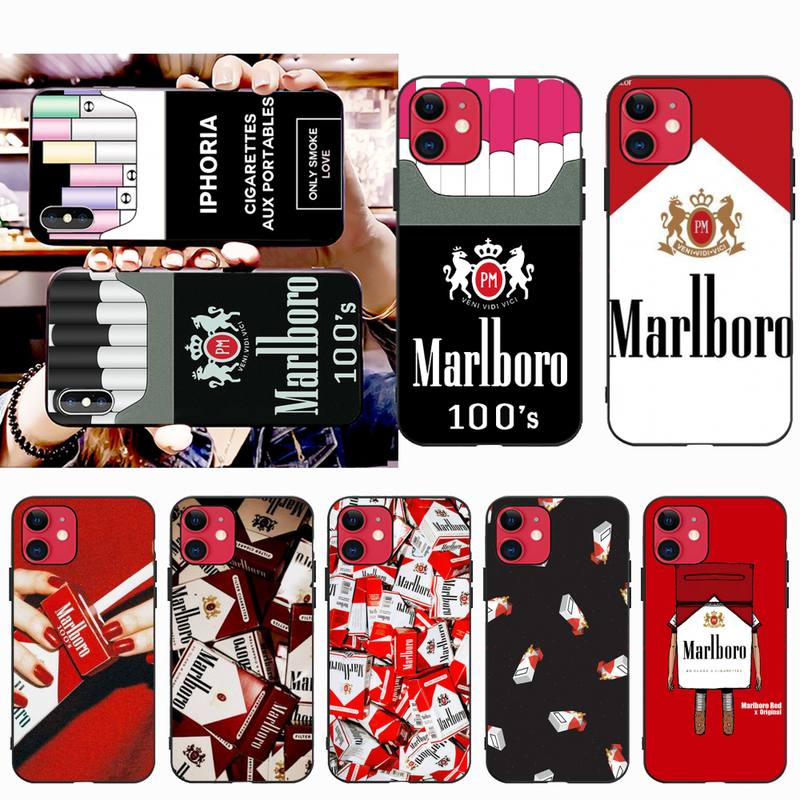HPCHCJHM Weed Cigarette Smoking DIY Painted Bling Phone Case for iPhone 11 pro XS MAX 8 7 6 6S Plus X 5S SE 2020 XR case
