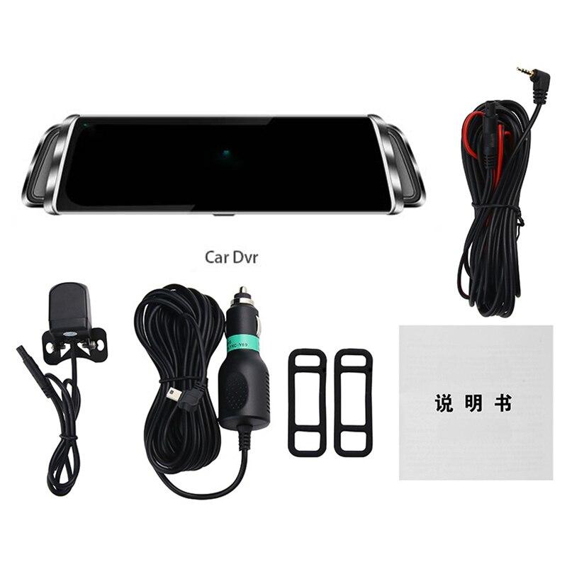 WHEXUNE 4G Android 8,1 Автомобильная dvr камера gps 12 дюймов зеркало заднего вида 2G ram + 3 2G rom видеорегистратор - 6