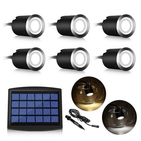 solar led deck luz ao ar livre luzes subterraneas a prova dwaterproof agua movido a