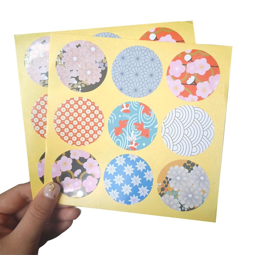 90pcs/lot Cute Flower Seal Label Scrapbooking Pattern Decoration Stationery School Suppiles Sticker