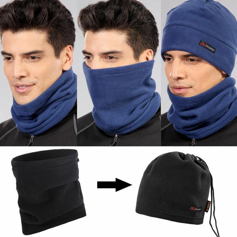 Multifunction Unisex 3 In 1 Winter Sport Thermal Polar Fleece Men Scarf Neck Warmer Face Mask Women   Beanie   Hat Men Winter Warm
