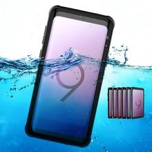 Чехлы с полным покрытием на 360 градусов для samsung S8 S8 Plus S9 S9 Plus Note 8, чехол с защитой от ударов, для плавания, для улицы