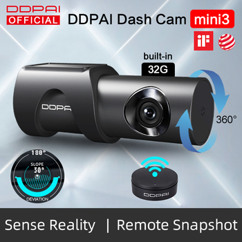 DDPai Dash Cam Mini3 1600P HD Dvr Car Camera 360° Rotation Camera