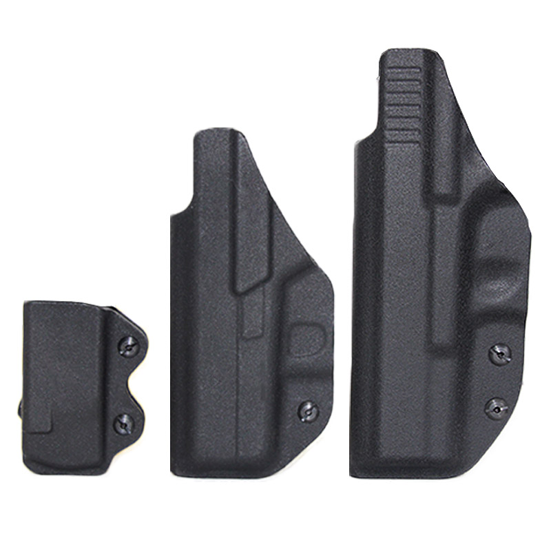 IWB Kydex Airsoft Pistol <font><b>Gun</b></font> Holster For <font><b>Glock</b></font> 17 22 43 43X <font><b>Gun</b></font> Holster <font><b>9mm</b></font> Mag Pouch Concealed Carry Case Hunting Accessories image