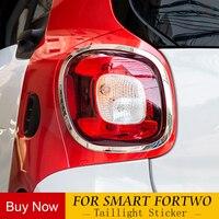Lanterna traseira do carro moldura decorativa modificação acessórios de plástico ABS para Mercedes Novo Smart Fortwo 453 farol Traseiro do carro styling|Adesivos para carro| |  -