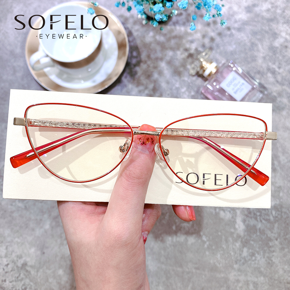 Cat Eye Progressive Prescription Glasses Women Optical Multifocal Bifocal Eyeglasses Ladies Clear Myopia Hyperopia Spectacles