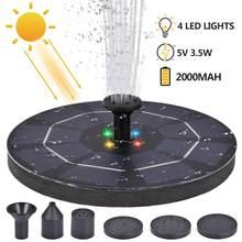 LED fontanna solarna pompa 3.5W 5V przenośna pływająca zasilana energią słoneczną pompa do fontanny dla Birdbath podwórko staw basen wystrój ogrodu