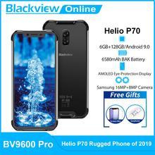 Blackview BV9600 Pro Helio P70 IP68 wodoodporny wytrzymały smartfon 6 21 #8222 AMOLED 6GB 128GB Octa Core Android 9 0 4G telefon komórkowy tanie tanio Nie odpinany CN (pochodzenie) Rozpoznawania linii papilarnych Rozpoznawania twarzy Inne 16MP 5580 Adaptacyjne szybkie ładowanie