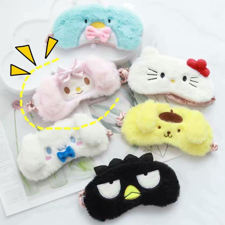 Sanrio Hello Kitty My Melody Cinnamoroll Badtz-maru Little Twin Star Pom Pom Purin Cartoon Plush Shading Patch Sleep Eyeshade