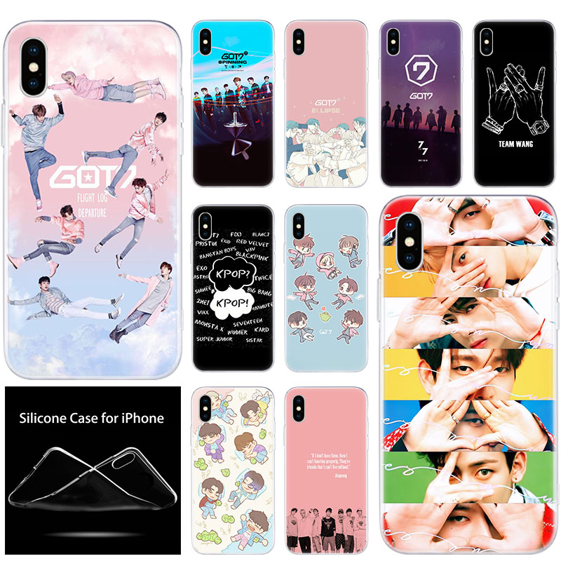 luxury Soft Silicone Phone <font><b>Case</b></font> Boy Group <font><b>Kpop</b></font> GOT7 for Apple <font><b>iPhone</b></font> 11 Pro XS Max X XR 6 6S 7 8 Plus 5 5S SE Fashion Cover image