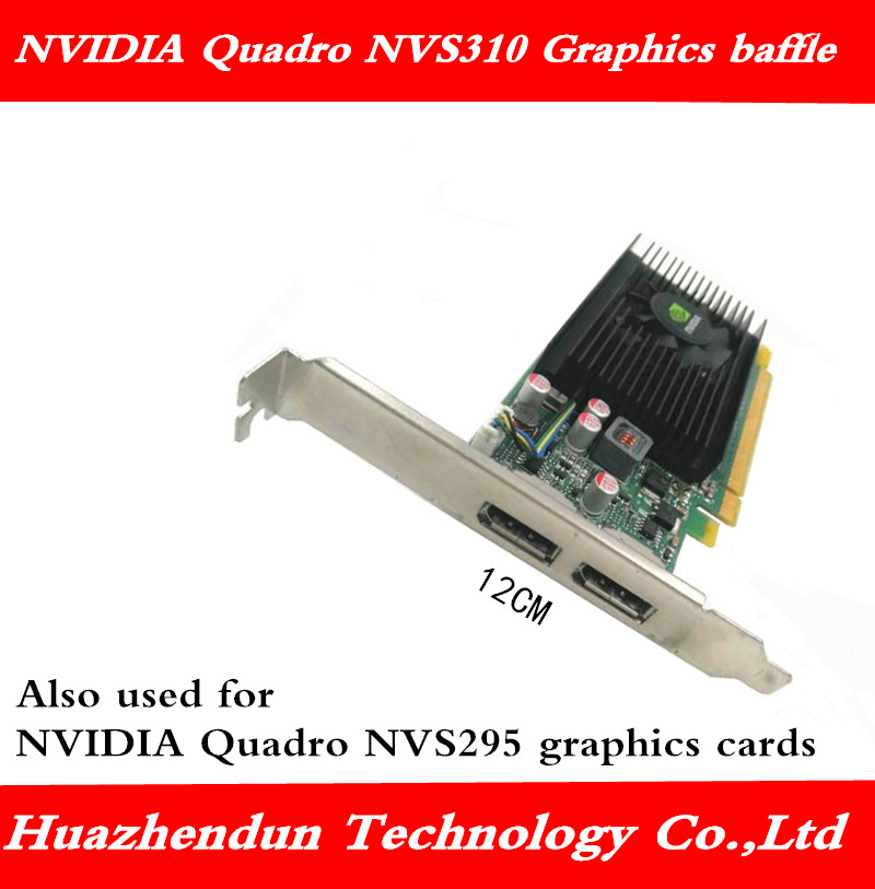 NVIDIA Quadro NVS310 NVS295 Graphics Card Full Height Blank Baffle Dual DP Interface 12CM Bracket 1pcs