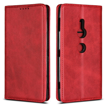 High Magnetic Leather Flip Cases For Sony Xperia XZ2 Premium Cover Case Moble Phone Accessories Hoesjes Book Bag Card Slot Stand