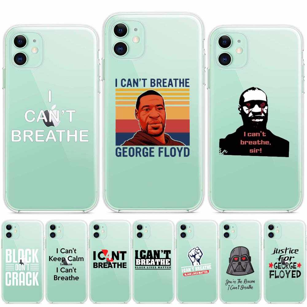 Floyd I Cant Breathe king boys Cool Men phone case black for iphone 11 Max pro Xs X 12 se 2020 7 6s 6 8 plus Xr soft cover coque