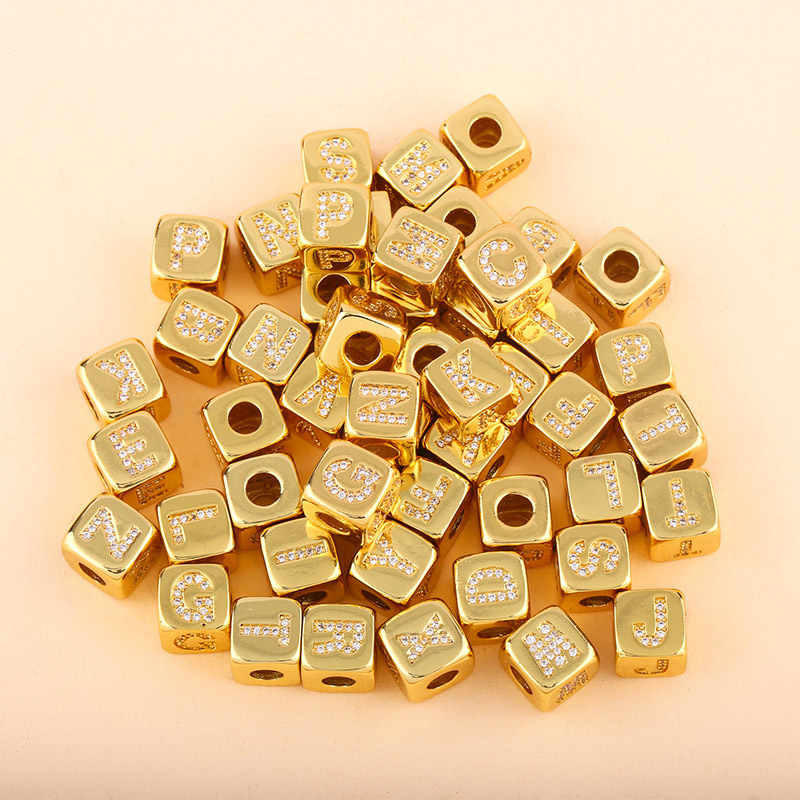 Flola Gold Filled Eerste Brief Armbanden Voor Vrouwen Diy Charm Bangles Armbanden Cz Zirconia Rvs Sieraden Brtb91