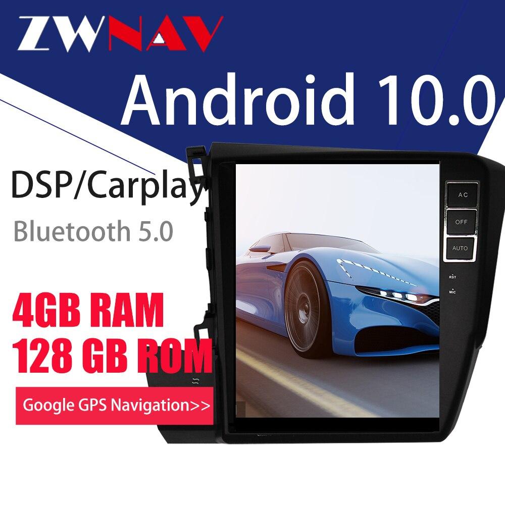 Купить для honda civic 2012 android 10 px6 tesla стиль автомобильный
