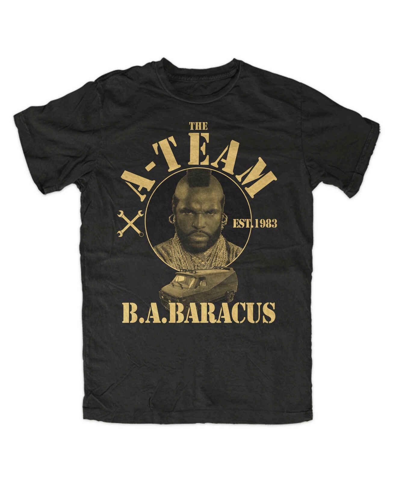 A UMA Equipa-B.A. Premium T-Shirt Divertida Série de TV Filme Mr. T. Hannibal Murdock Face-mostrar título original