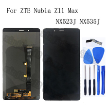 "6.0"" AMOLED display for ZTE Nubia Z11 Max NX523J LCD Display+ Touch screen digitizer assembly for Nubia NX535J LCD repair parts"