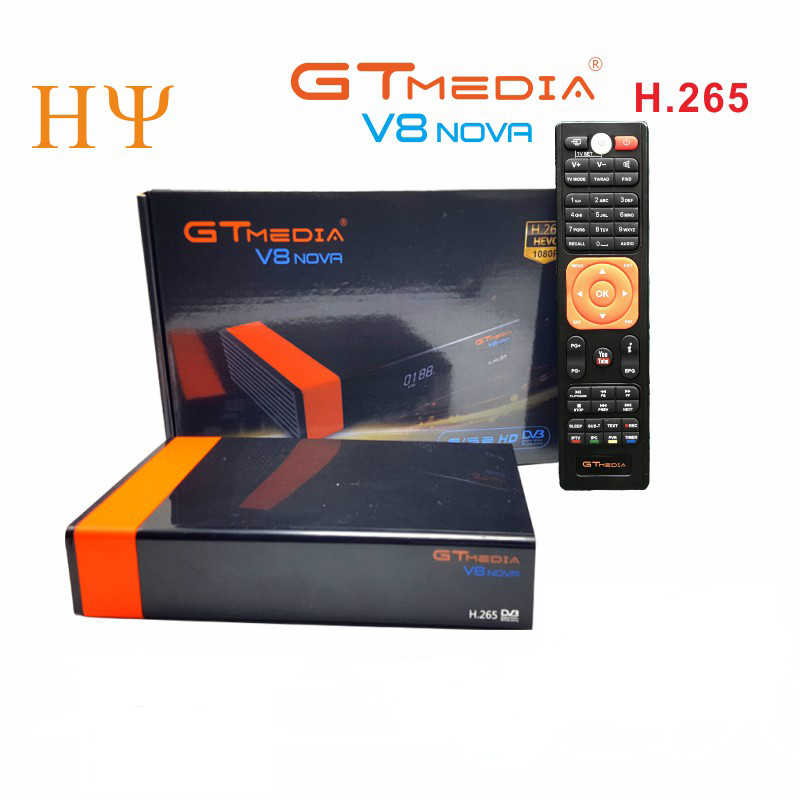 5Pcs/lot Gtmedia V8 NOVA same as free sat V9 SUPER DVB S2 satellite receiver Builtin wifi support H.265, AVS better V9 super|Satellite TV Receiver| |  -