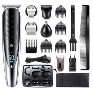 Image 1 - HATTEKER Professional Hair Clipper for Men Rechargeable electric razor 5 in 1 Hair Trimmer hair cutting machine beard trimer 598