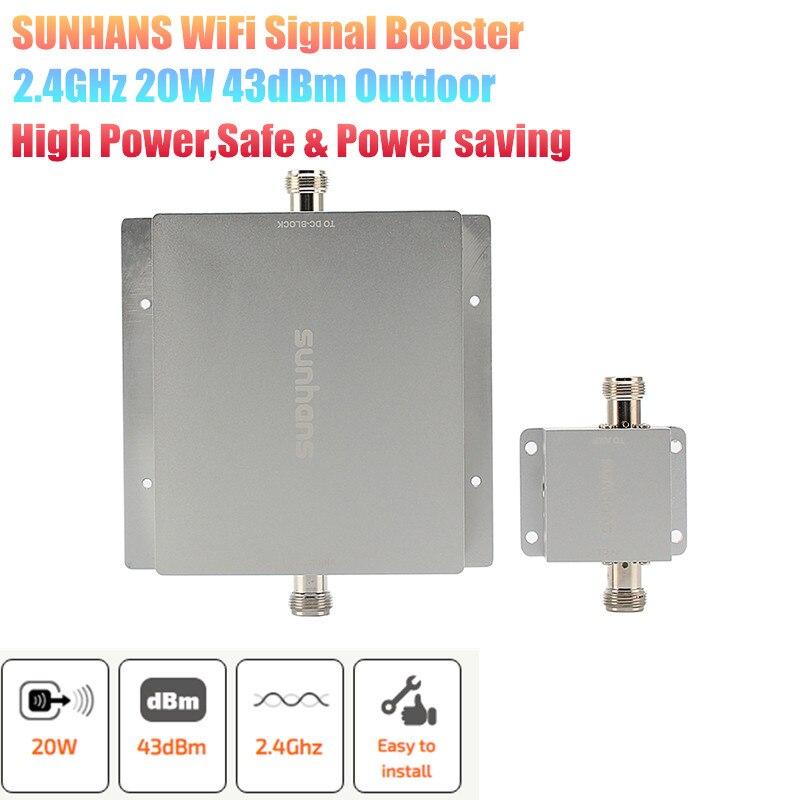 Original Sunhans 20W 43dBm Wireless Network WiFi Outdoor Signal Booster Amplifier 2.4GHz Outdoor WiFi Signal Amplifier