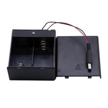 15pcs/lot MasterFire 2 Slots D Size Battery Holder ON/OFF Switch&DC Plug 2 x D Size Batteries Storage Box Case High Quality