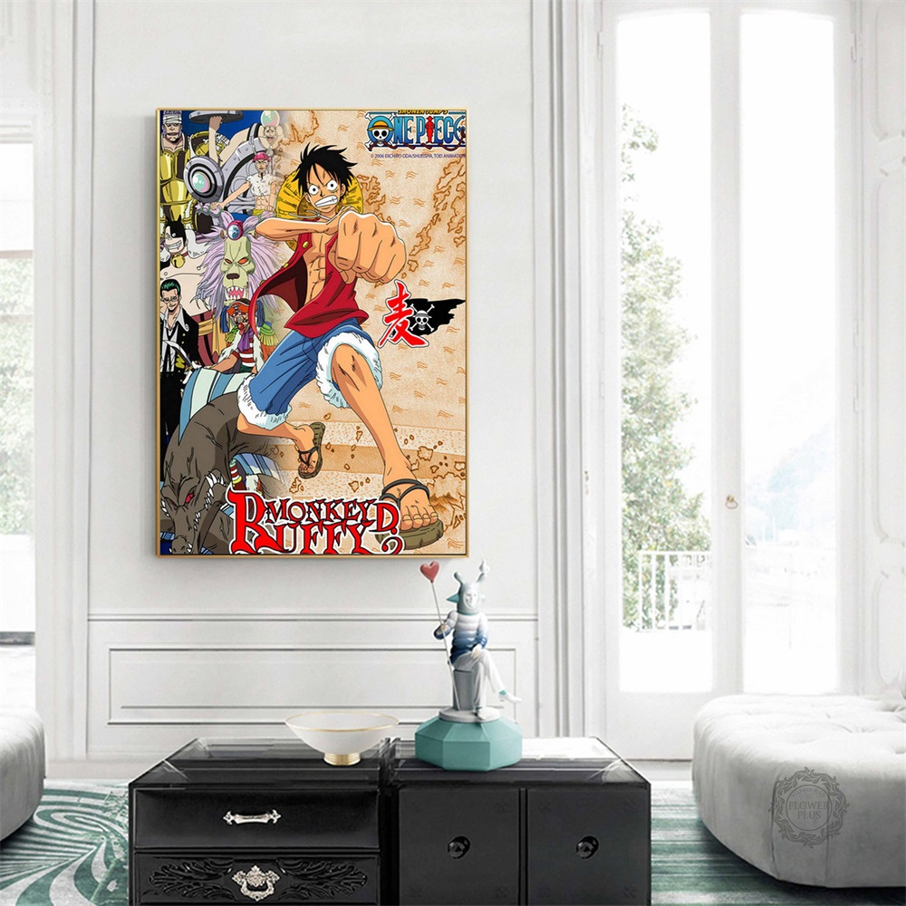 One Piece Strong World Anime Art Silk Fabric Poster Print 12x18