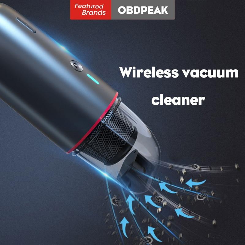 Aspirateur de voiture sans fil tenu dans la main humide/sec 4000mAh Mini Aspirateur Aspirateur 5Kpa puissant Cyclone aspiration pour la maison de voiture