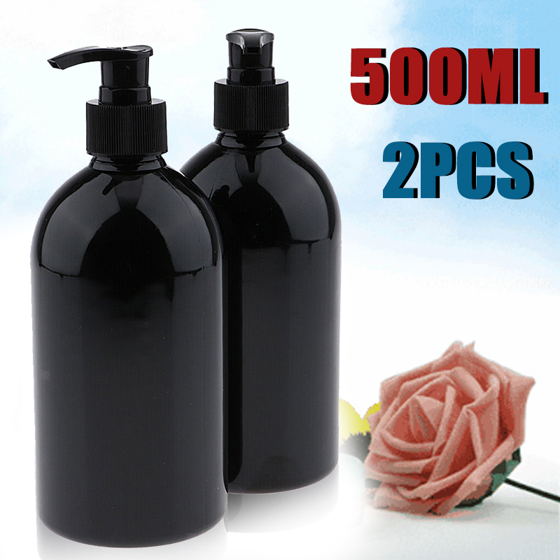 2pcs 500mL Lotion Bottle Pump Empty Bottles Shampoo Container  Soap Mousses Liquid Dispenser Foam Bottles Froth Refillable