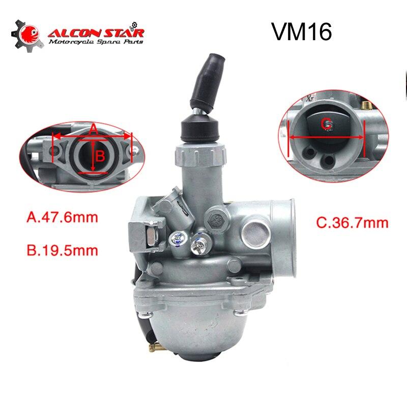 Alconstar- Mikuni VM16 19mm PZ19 Carb Hand Choke Carburetor For Honda XR50 CRF50 CRF70 50cc 70cc 90cc 110cc ATV Dirt Bike Quad
