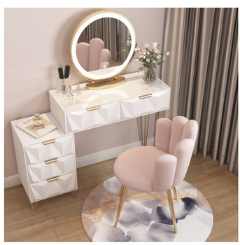 Northern Europe light luxury bedroom dressing table net red ins style modern simple dressing table bedside storage cabinet integ northern europe light luxury style dressing table bedroom modern simple dressing table small family european style dressing tabl