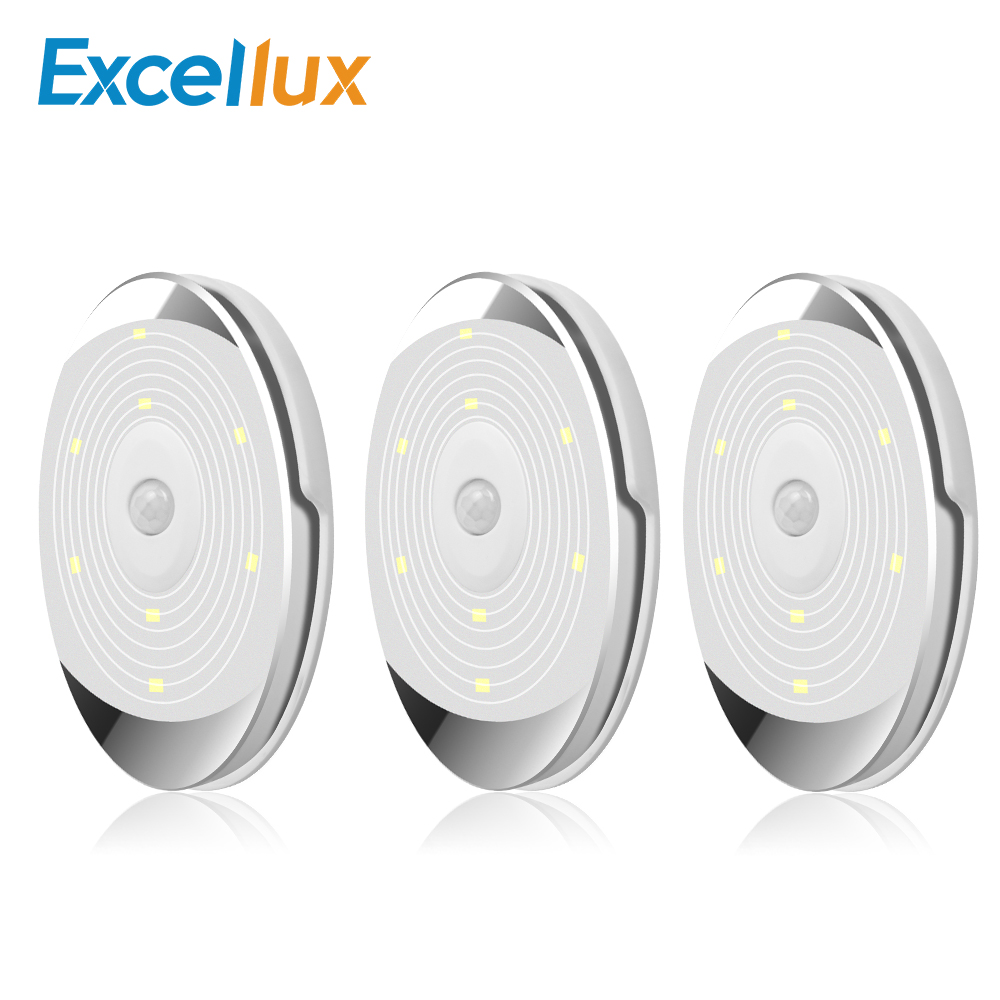 Motion Sensor Led Cabinet Light Battery Powered Puck Lights For Stairs Kitchen Closet Light Wardrobe Sensor Night Light Lamps