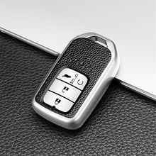 Car key case for honda civic 4d 2019 crv fit2015 odyssey forza 300 125 ccord 2003 2018 2007 jazz hrv cover holder shell auto