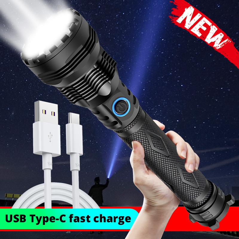 2020 Latest Powerful Xlamp XHP90 LED Flashlight Zoom Torch XHP70.2 USB Rechargeable Waterproof Lamp Use 18650 26650 For Camping